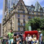 The Dakota Building NYC Central Park pedicabs
