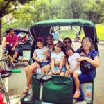 big family in central park pedicab tours
