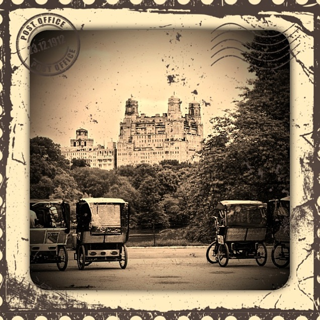 central park rickshaw tours in french cyclo-pousse New York : visite de Central Park en pousse-pousse