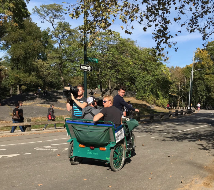 central park pedicab service movie production