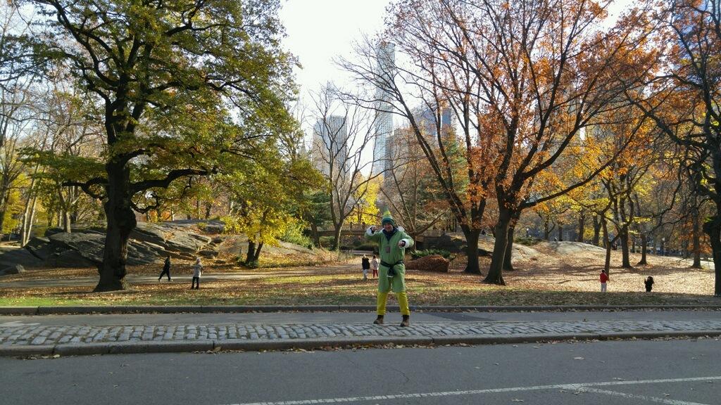 Buddy the Elf Central Park snowball fight Bridge Elf movie