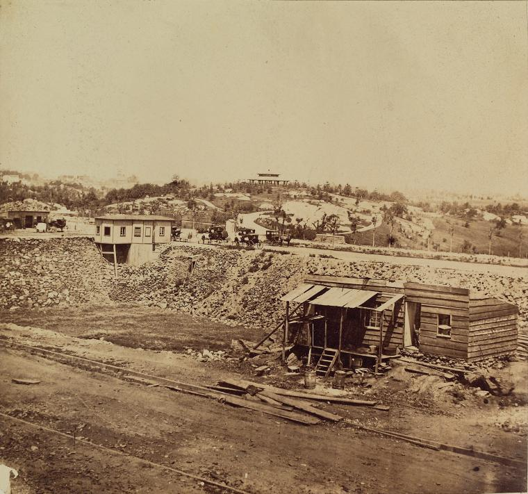 central park history summer-house-east-from-8th-ave-august-28-1862