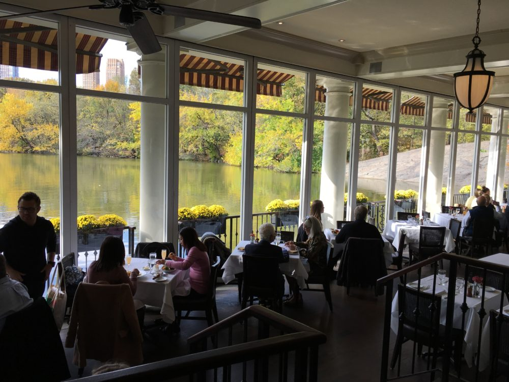 The Loeb Boathouse brunch overlooking central park