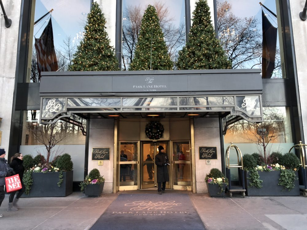 Park Lane Hotel near central park south