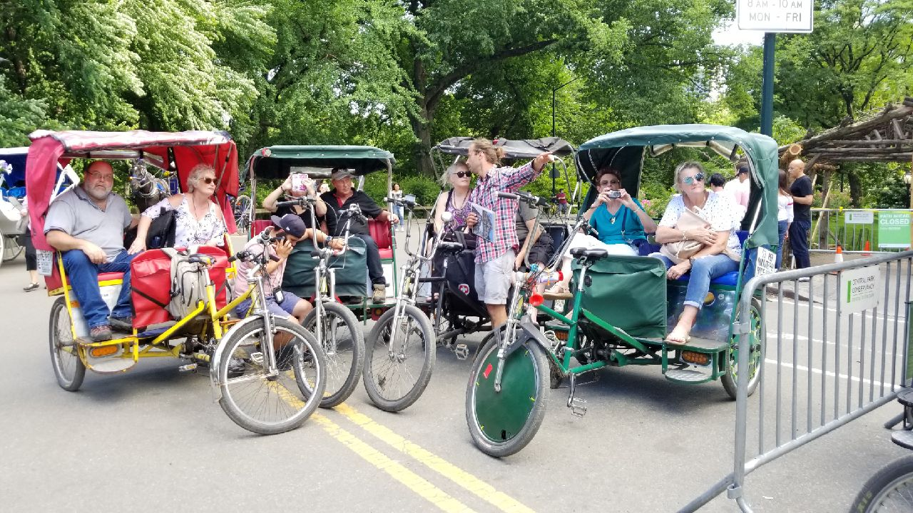 central park rickshaw rides