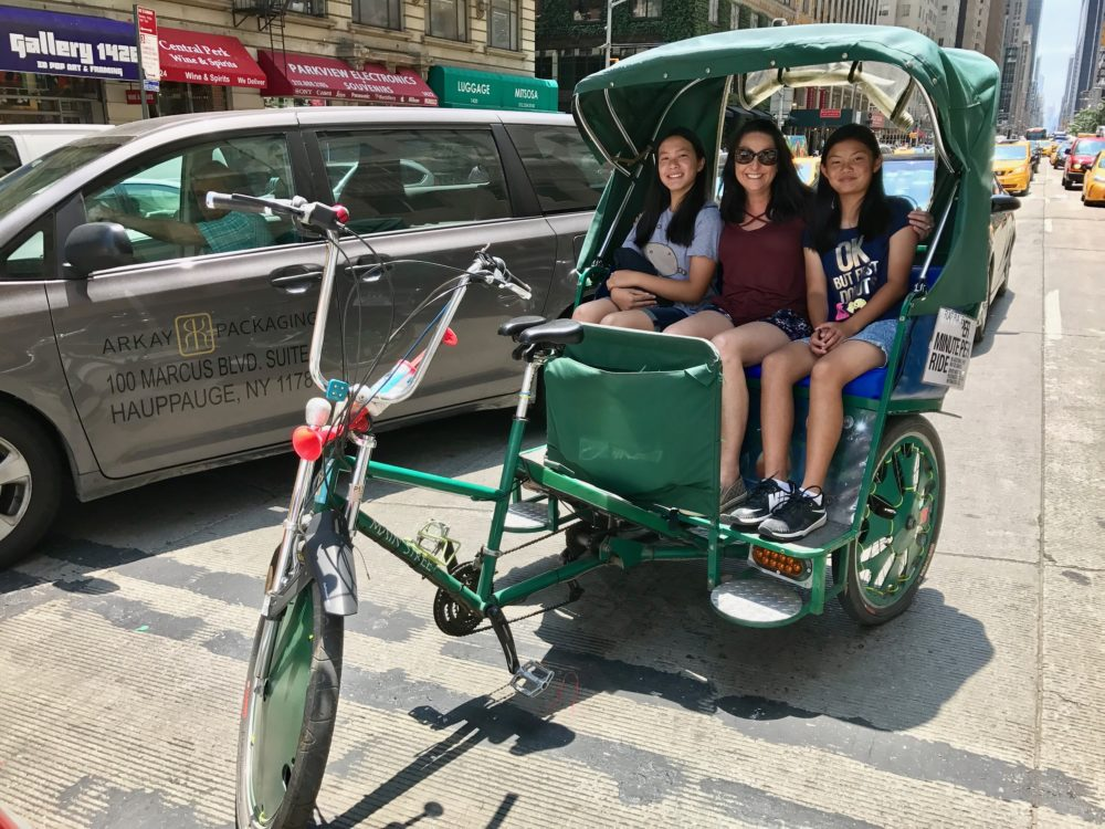 new york pedicab ride